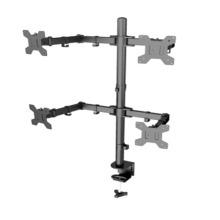 Braço articulado para computador, braço dobrável para monitor de mesa
