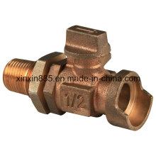 Bronze Wasserzähler Kugelhahn