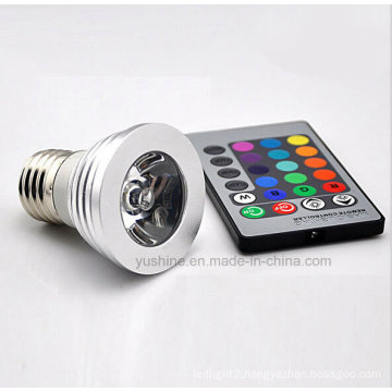 LED RGB Spotlgiht E27 3W with Remote