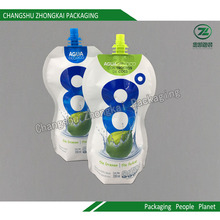Stand up Pouch with Spout Liquid Laminated Plastic Packaging