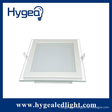 12W super brightness , square led glass panel light