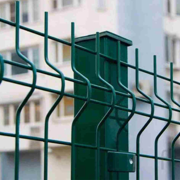 foldable garden fence bend pvc green coated 3d wire mesh fence
