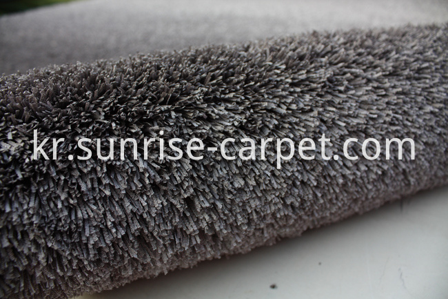 Fabric polyester gradational color floor carpet grey