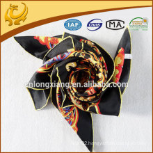 2015 newest custom design printed twill silk scarf
