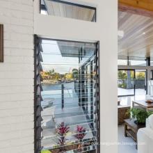 Office Building Aluminum Glass Shutter  Window