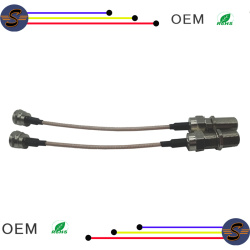 TV antenna extension cables with F plug and F female connector