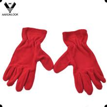 Рекламные теплые пять пальцев флисовой перчатки
