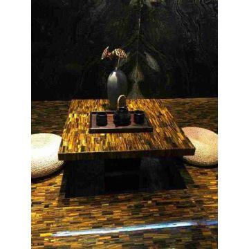 Yellow tiger eye table top