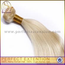 Super estrella de extensiones de cabello Remy italiano sedoso pelo rubio Lacio