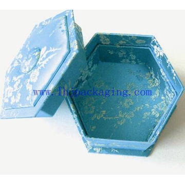 Octagon de lujo de papel de embalaje caja de regalo