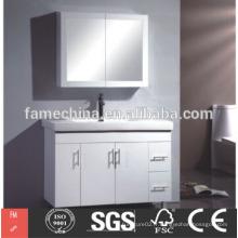 Une vanité de salle de bains moderne laqué blanc moderne de haute qualité fabriquée en Chine