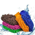 Super soft microfiber car wash chenille cleaning gloves