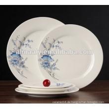 Gute Qualität Restaurant Abendessen Platte Runde Form