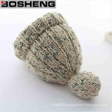Women′s Winter Slouch Knitting Cap Warm Beanie Crochet Ski Hat