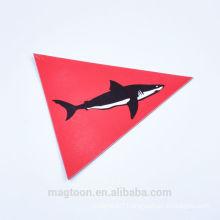 2016 custom high-quality shark design paper kids fridge magnets toy