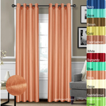 100% Polyester Faux Silk Curtains
