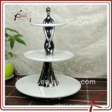 Keramik Kuchen steht für Hochzeitstorten