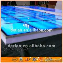 Sistema de piso de vidrio de iluminación decente para publicidad, feria comercial, exposición