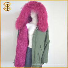 Hot Selling Preço barato Brand Winter Jeans Overcoat Fur Parka