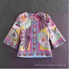 2017 Printemps Femmes récentes Mode coréenne Fans chinois Impression Manteau en laine