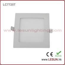 Luzes de painel quadradas de poupança de energia 12W / iluminação lisa LC7726t