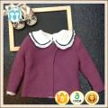 violet bébé filles 1 an 2 ans vêtements d'hiver nouveau modèle collection vente chaude enfants chandails, modèles d'hiver cardigans