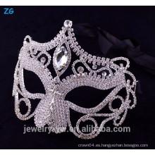 Máscara de lujo de la mascarada del cristal, máscara facial atractiva del partido, máscara de Halloween