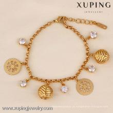 71706 Xuping Fashion Woman Bracelet com banhado a ouro