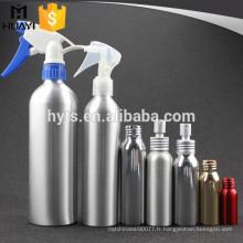 Bouteille en aluminium rechargeable de jet de déclencheur pour le parfum
