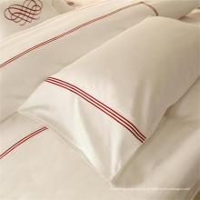 Großhandels-Baumwollhotel gestickter einfacher weißer Kissenbezug 100% (WSPC-2016024)