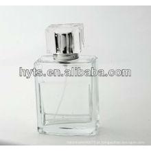 garrafa de vidro desobstruída vazia de 100ml para o perfume