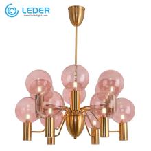 Lâmpada lustre de vidro LEDER PInk