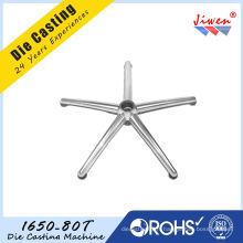 Les bases en aluminium de chaise de bureau de moulage mécanique sous pression 5 tiennent le premier rôle