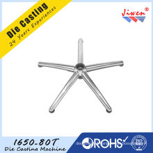 Aluminum Die Casting Office Chair Bases 5 Star Customized