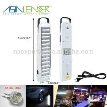 Temps de légèreté 4-6 heures 2x4V 900mAH Batterie interne 42LED Lampe torche rechargeable pour urgence murale