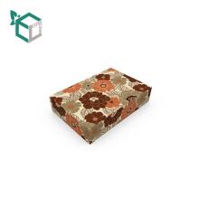 Elegante franela flor diseño papel embalaje caja de cosméticos