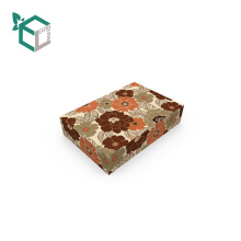 Elegant Flannel Flower Design Paper Packaging Cosmetic Box