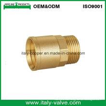 Acoplamiento masculino de cobre amarillo de calidad superior modificado para requisitos particulares (AV-BF-9001)