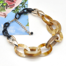 2021 trendy marble acrylic chain link african choker hip hop jewelry necklace