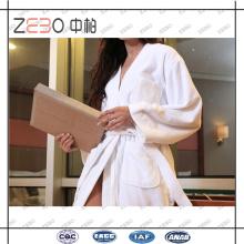 100% coton serviette tissu Star Hotel utilisé en gros blanc peignoir fabricant