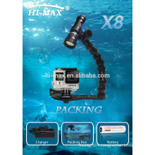 Hi-max Latest Magnetic Switch on/off Underwater Video Light 860lm