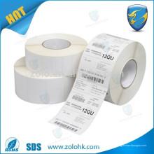 Made in china qc pass paper adesivo papel térmico direto caixa de papel térmico com código de barra