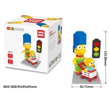 Plastik DIY Bausteine Bau Spielzeug für Kinder (H03120151)