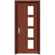 Puerta de madera caliente de la alta calidad de la venta con el vidrio