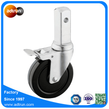Industrial Square Stem Scaffolding Caster Solid Rubber Wheels