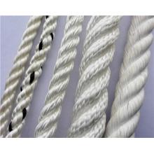 Color blanco 3 hilos trenzados utilizados en barco Cuerda flotante de seguridad PP