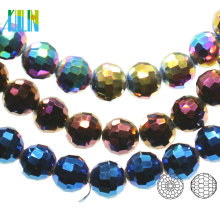 A5003#-4 96 Facetes Center Drilled Chunky Crystal Earth Glass Disco Ball Beads