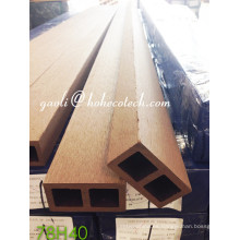 Suelo de madera Sythenic ultra resistente a prueba de humedad WPC Wood Grain Column