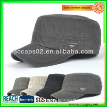 Wholesale Plain Military Style Flat Top Caps AMC-1207
