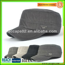 Atacado Plain Military Style Flat Top Caps AMC-1207